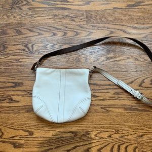 Coach white/cream cross body bag